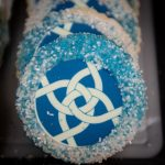 Photograph of a cookie imprinted with the ASWB logo