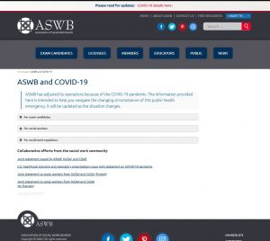ASWB expands communication to members, exam candidates