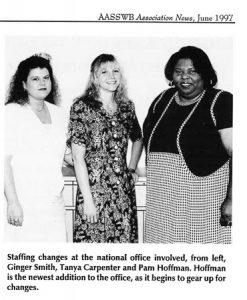 Photograph of three ASWB staff members