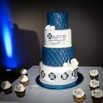 Photograph of a tiered cake to celebrate ASWB's 40th anniversary