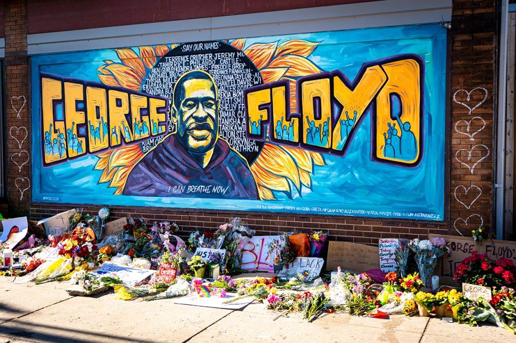 Mural in memory of George Floyd